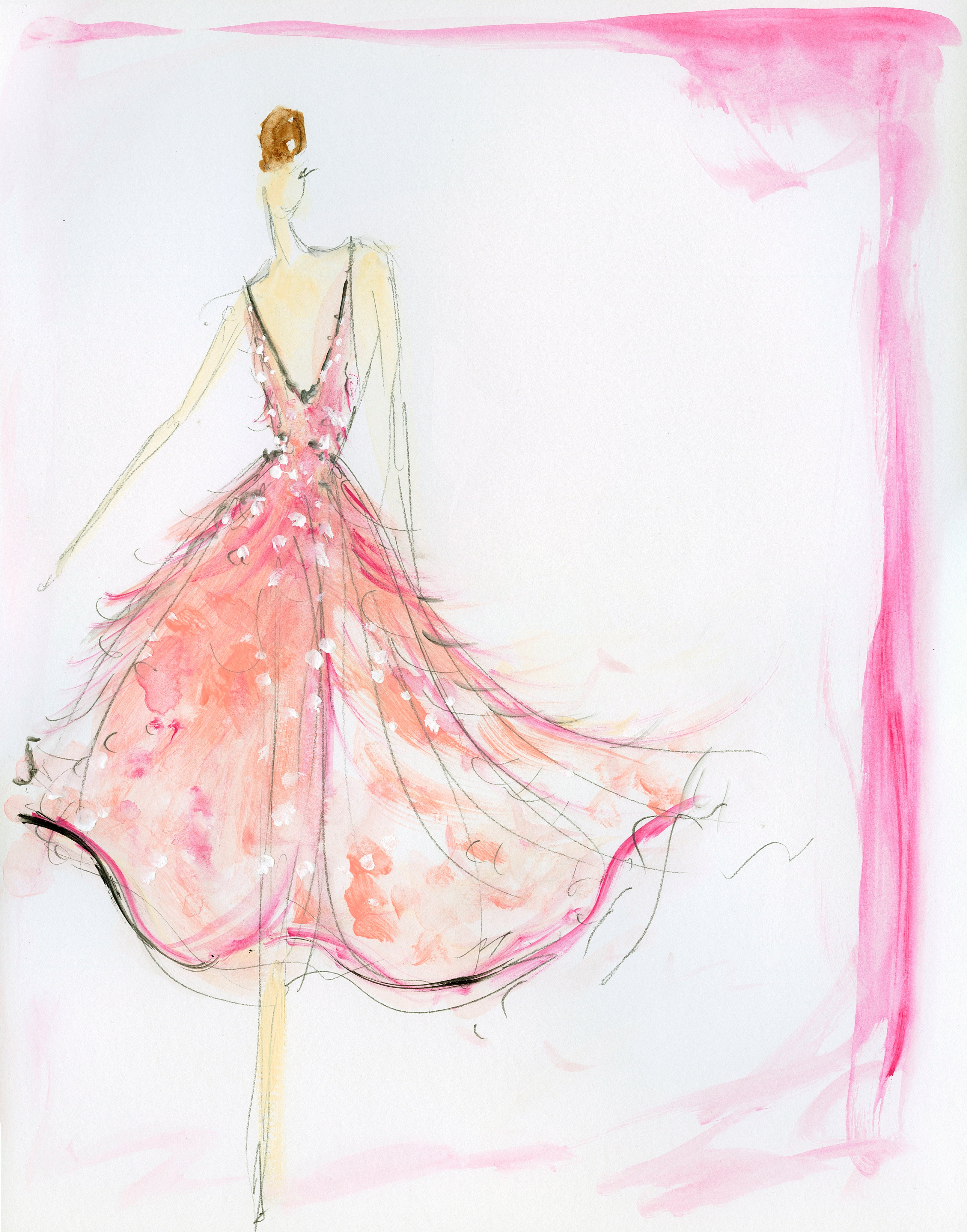 Ball gown fashion sketches 28