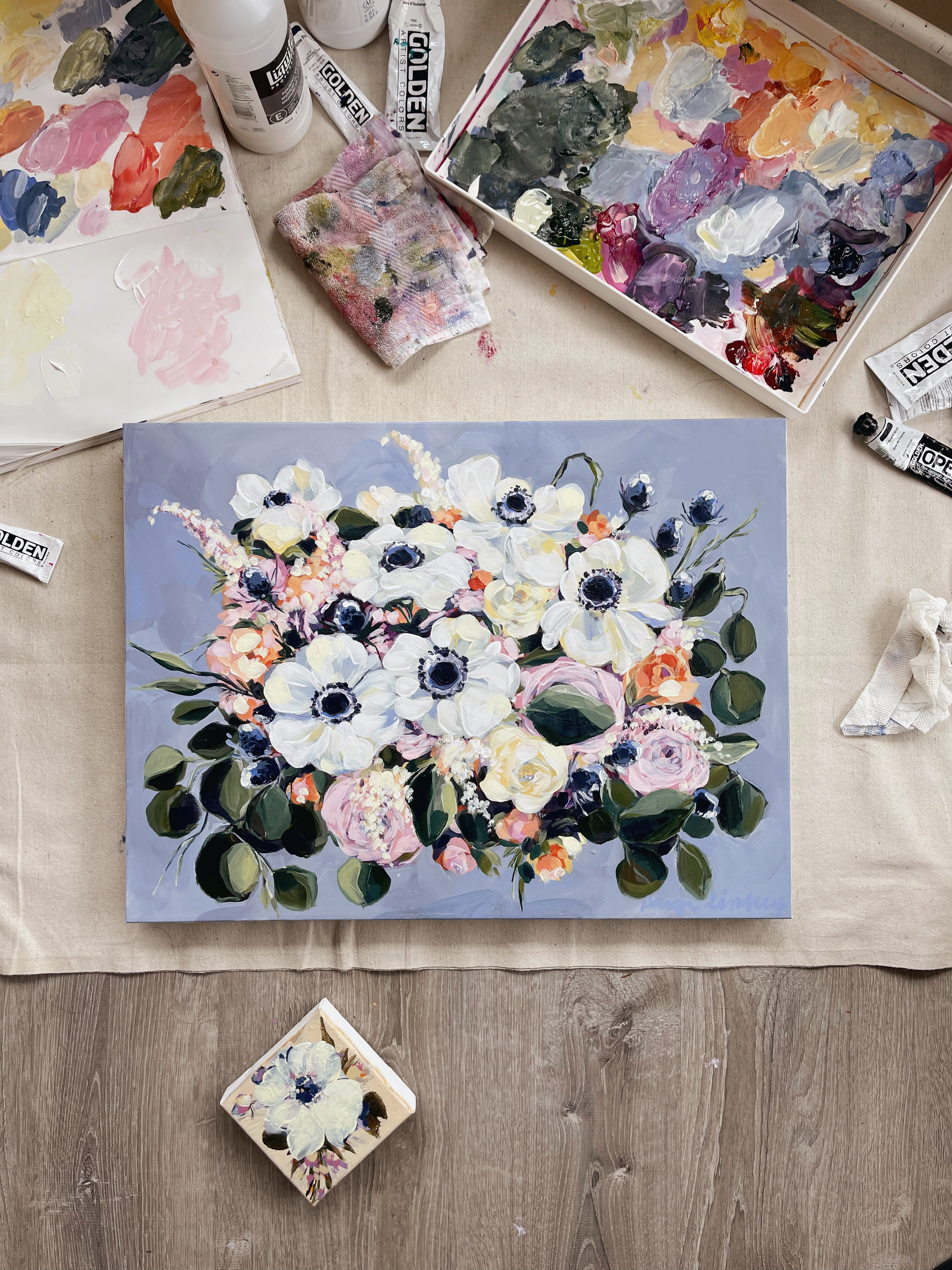 Preserve your wedding bouquet as a custom watercolor or acrylic painting.