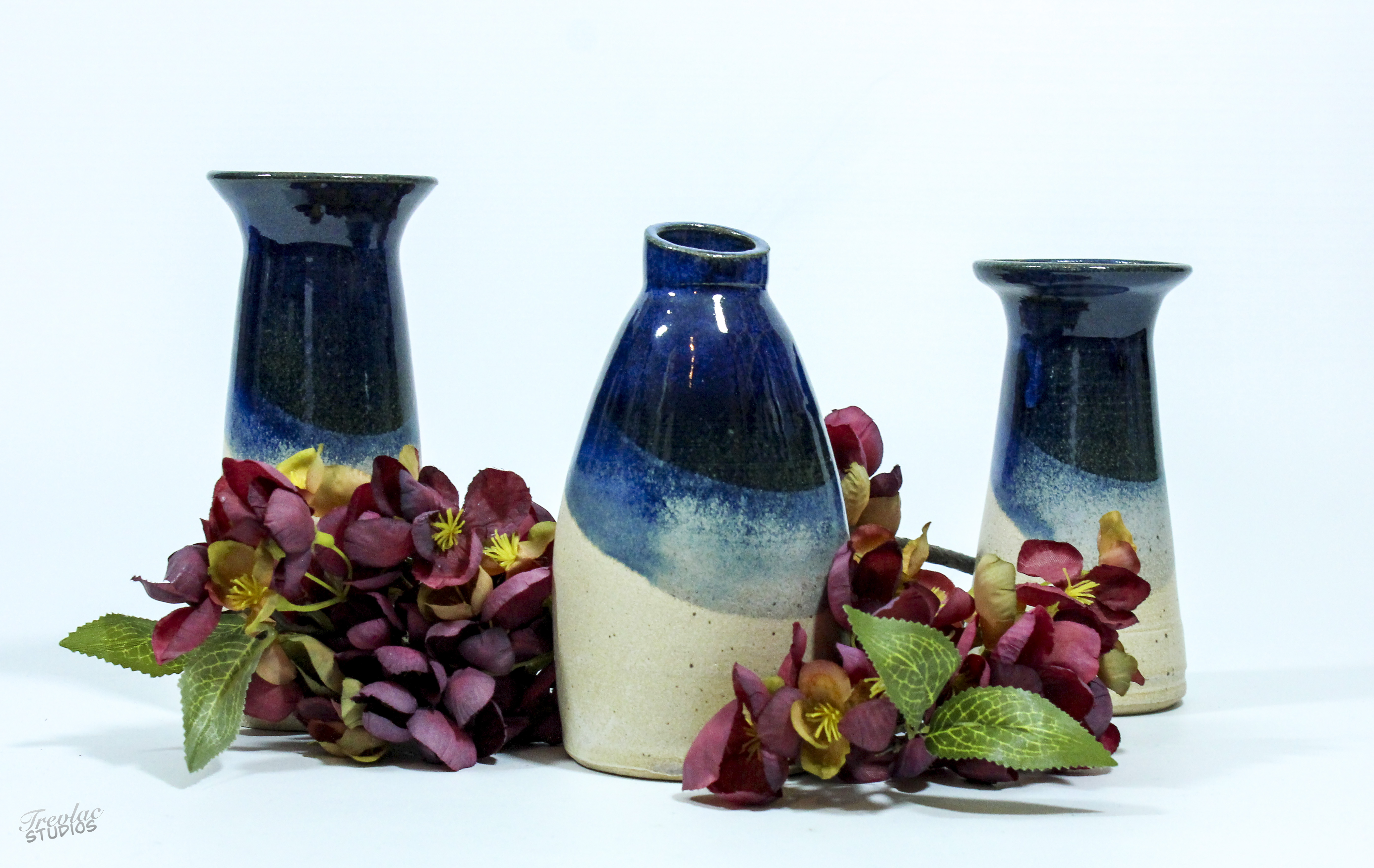 Peter White Blue Sea Sand Bud Vase Woburn Sands Clay The Great Pottery Throw Down
