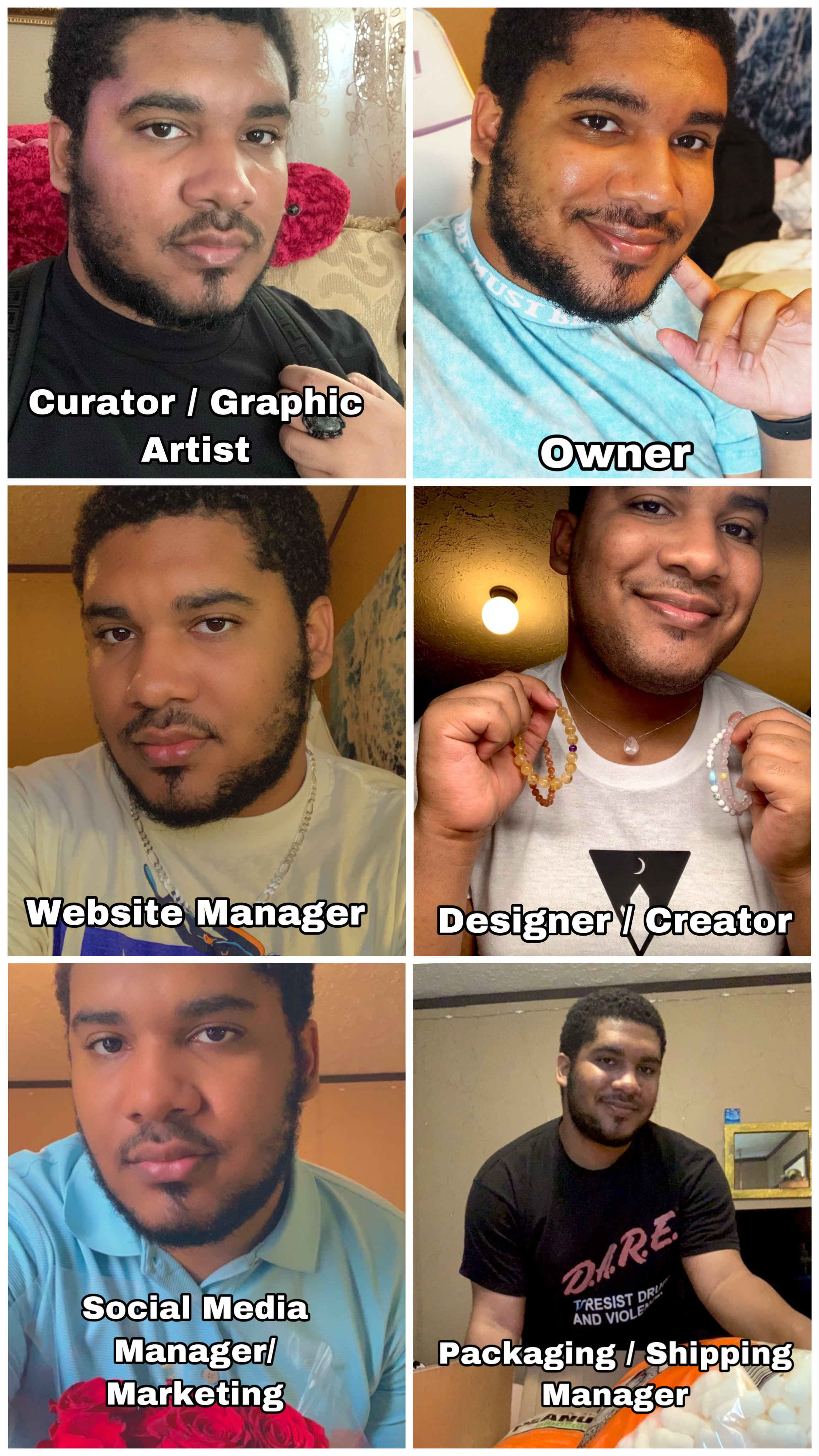 Fun Collage of Myself and everything I do at Moon Wave Atelier.