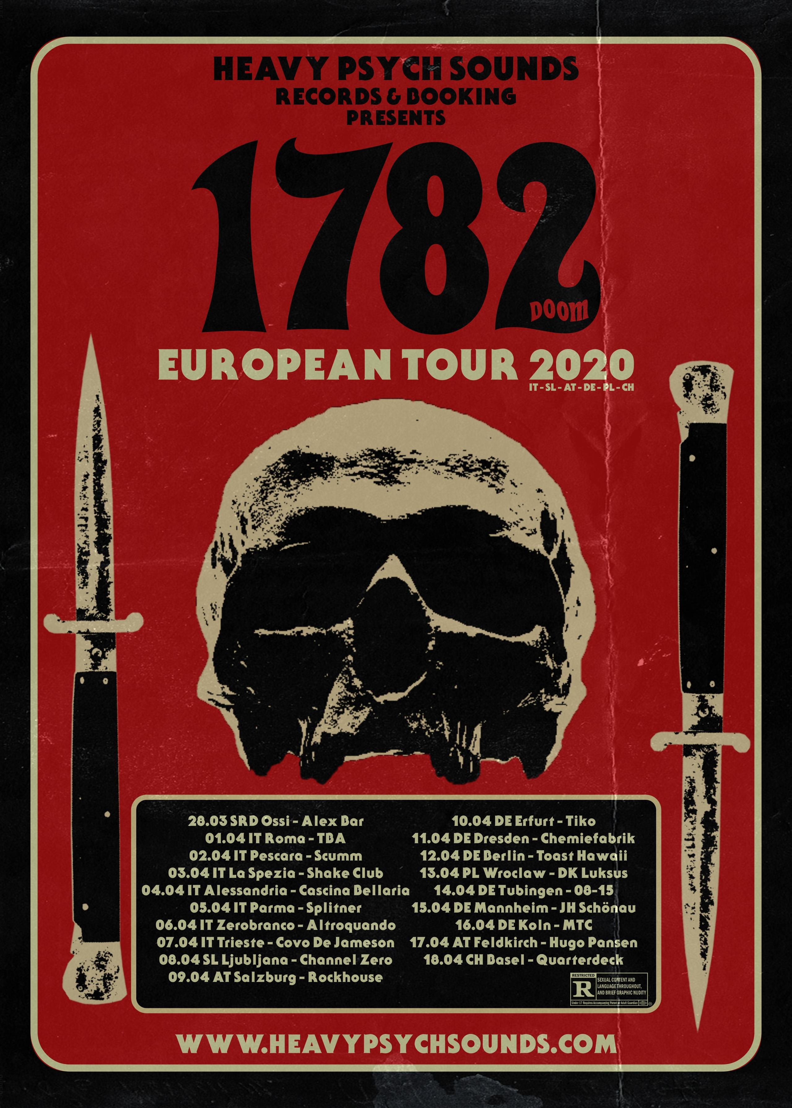 1782 tour