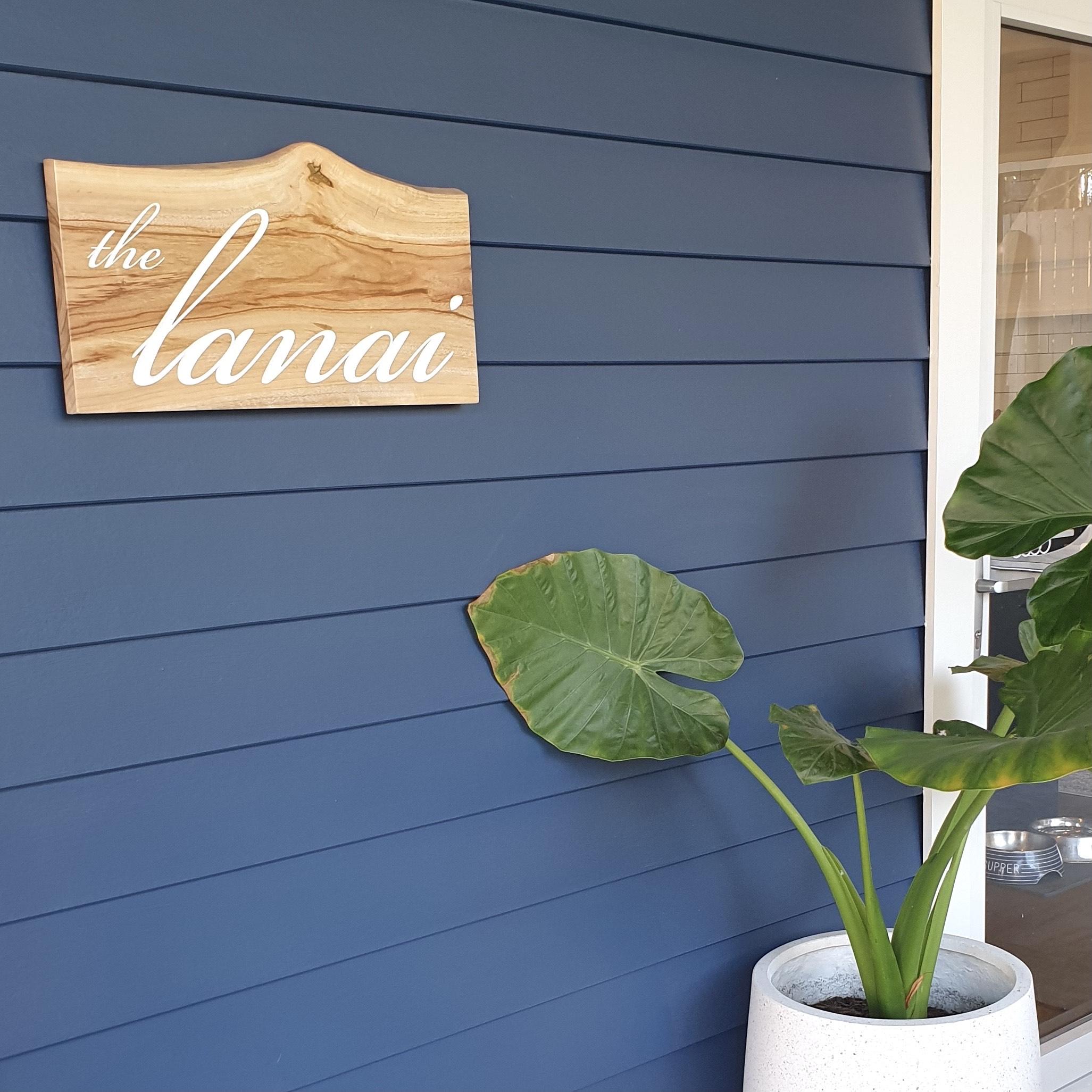 Camphor Laurel Sign - The Lanai