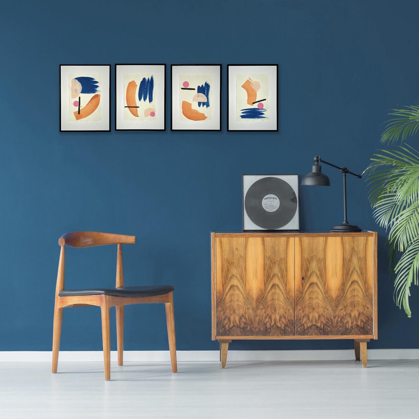 Modern original art set in a stylish setting