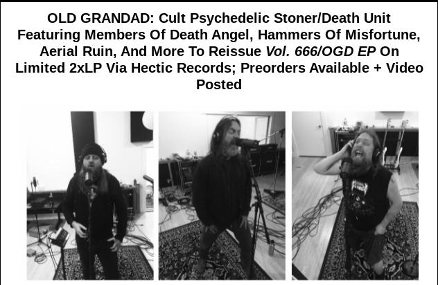 Old Grandad Press Release
