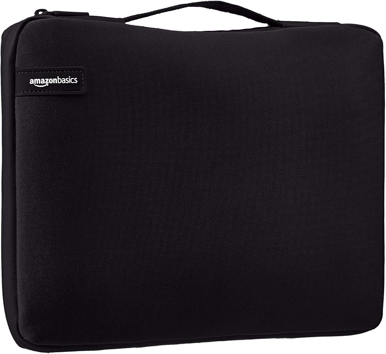Amazon Basics laptop sleeve with handle