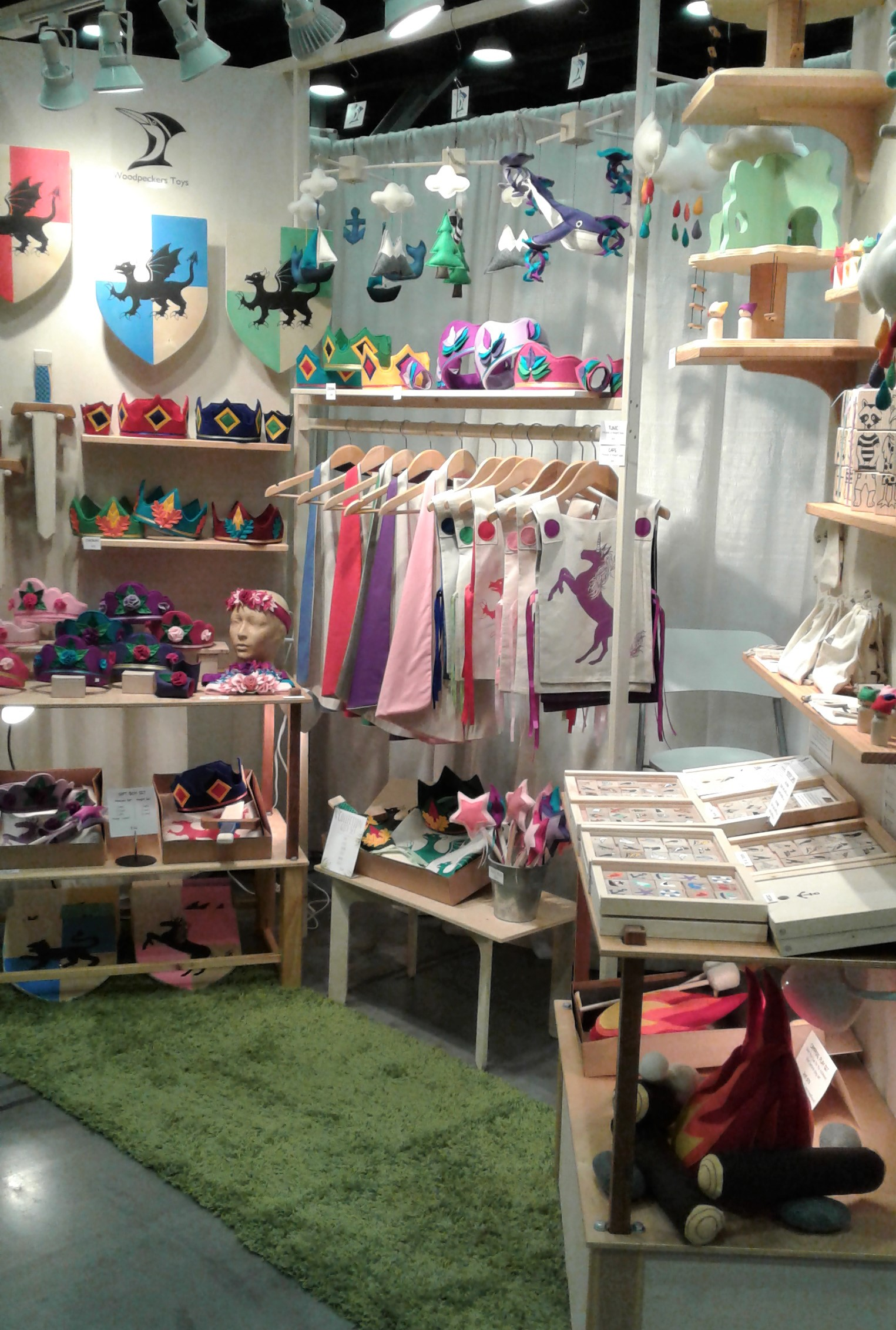Woodpeckers Toys craft fair booth