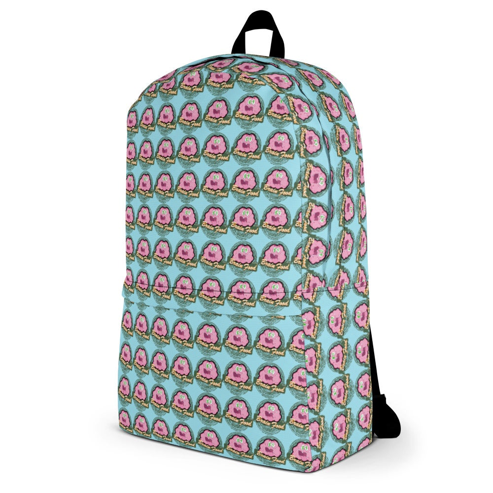 """""""Brain Food"""" By Gonzoe Backpack (Baby Blue Background)"""
