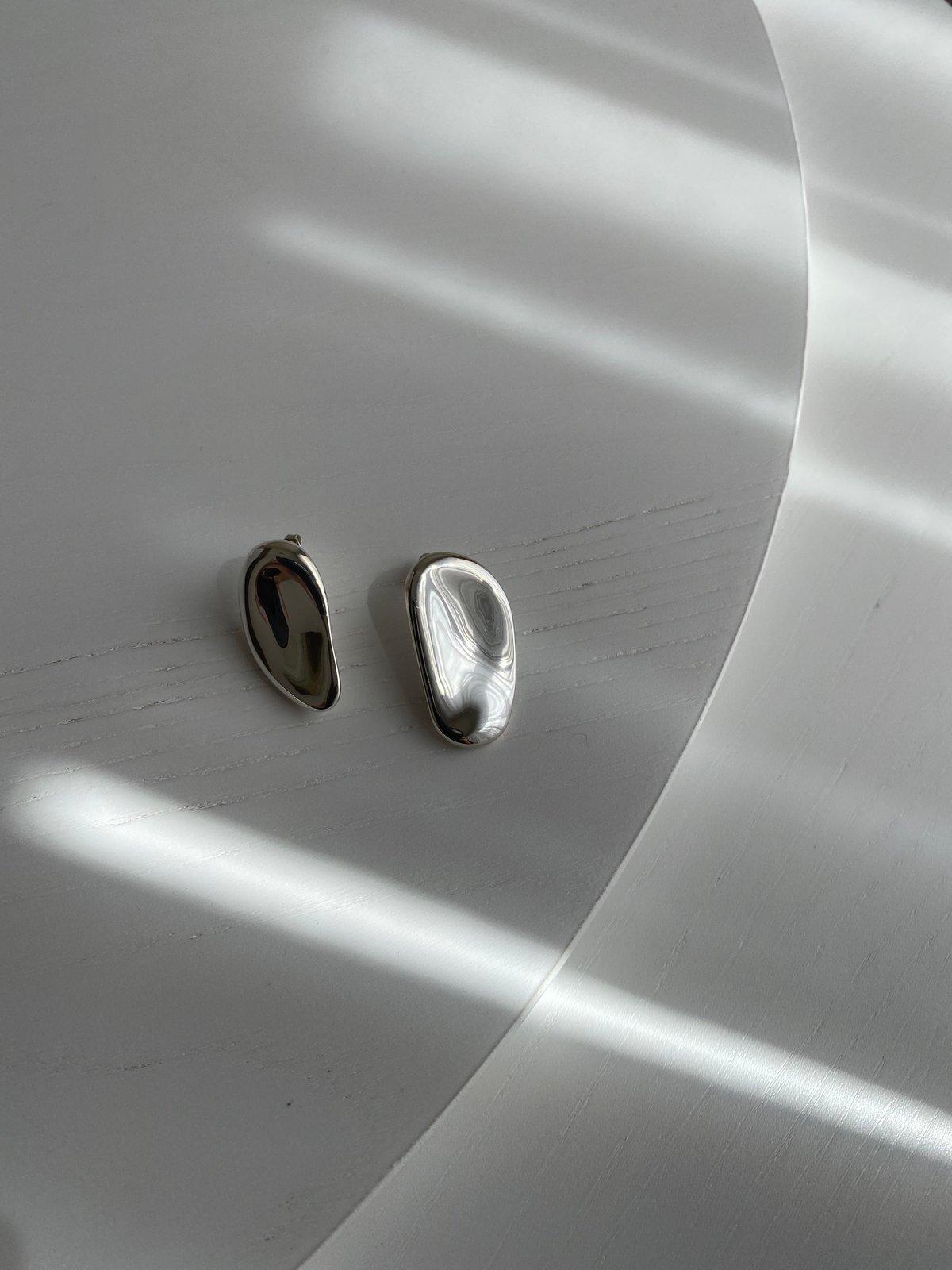 Image of Palette Earrings Long (Silver)