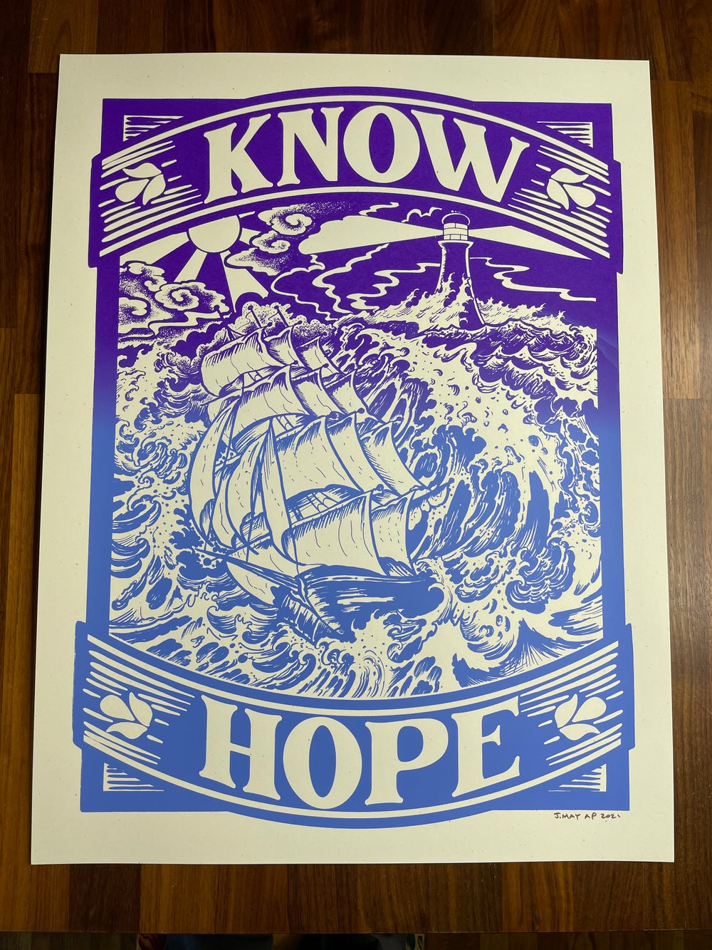 KNOW HOPE Limited Edition Silkscreen Print