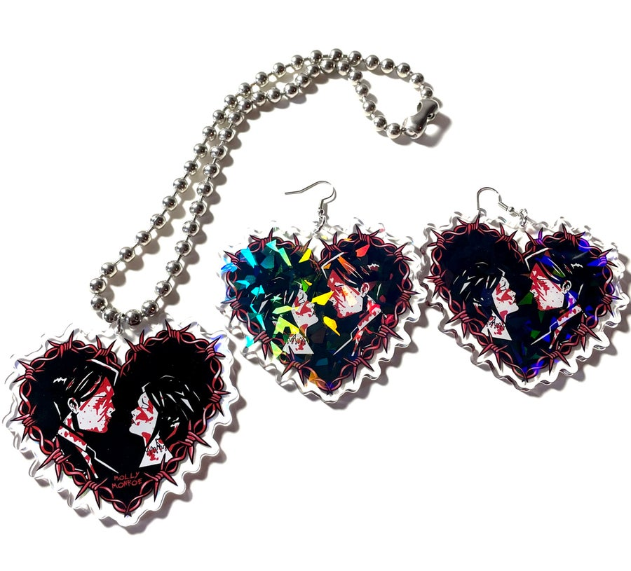 Image of Demolition Lovers Earrings and Necklace Set