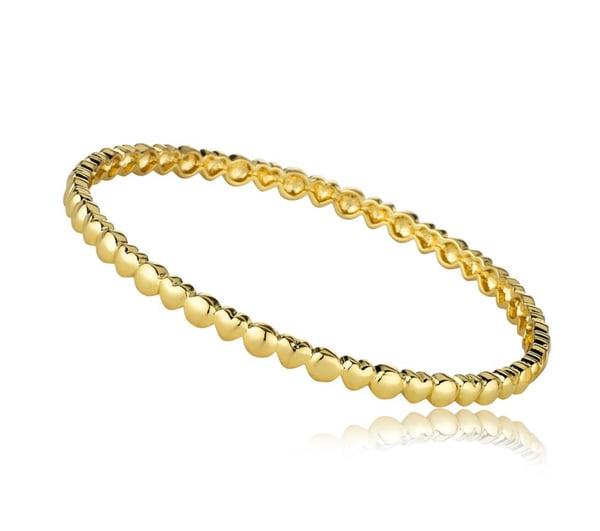 Image of Gold Hearts & Circles Bangle