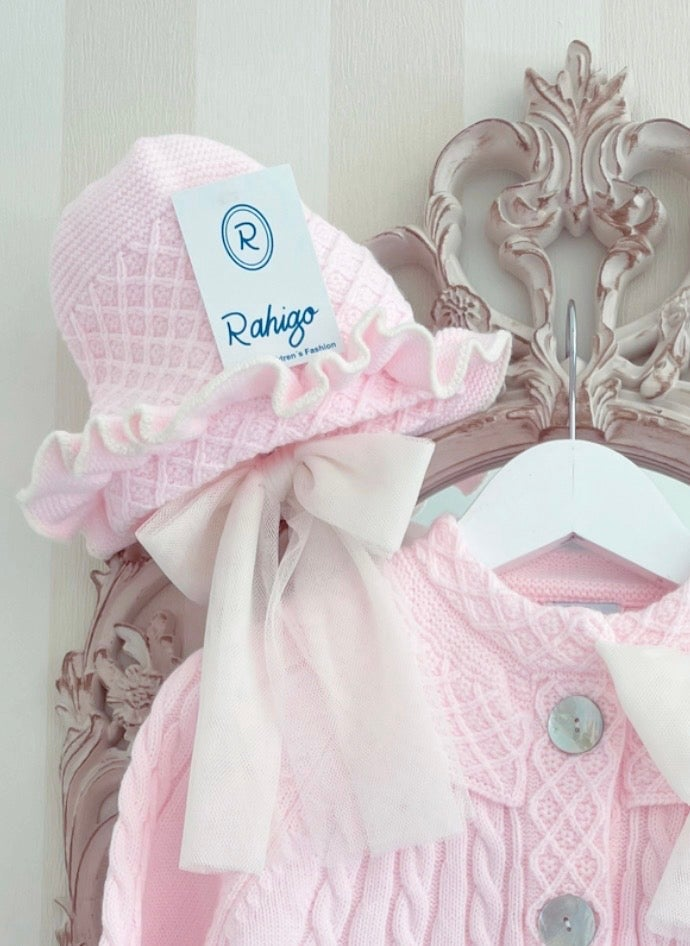 Image of 21208 Tulle Bonnet BABY PINK/CREAM