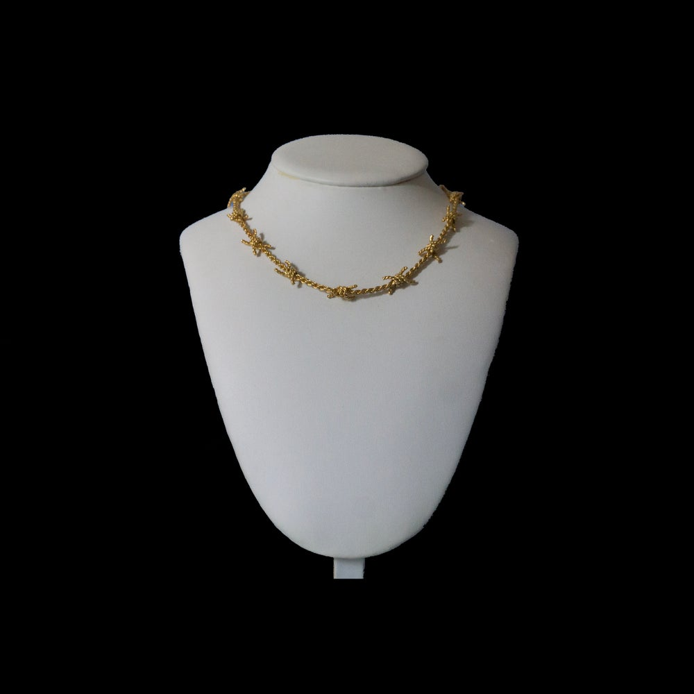 Image of Barbed Wire Necklace Gold