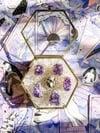Amethyst cluster ring #5 - set in gold