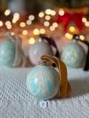 Marbled Ornaments - Noel