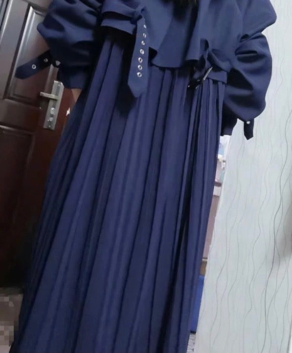 Image of Pleated Back Trench Coat