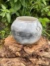 Pit fired bud-vase 1
