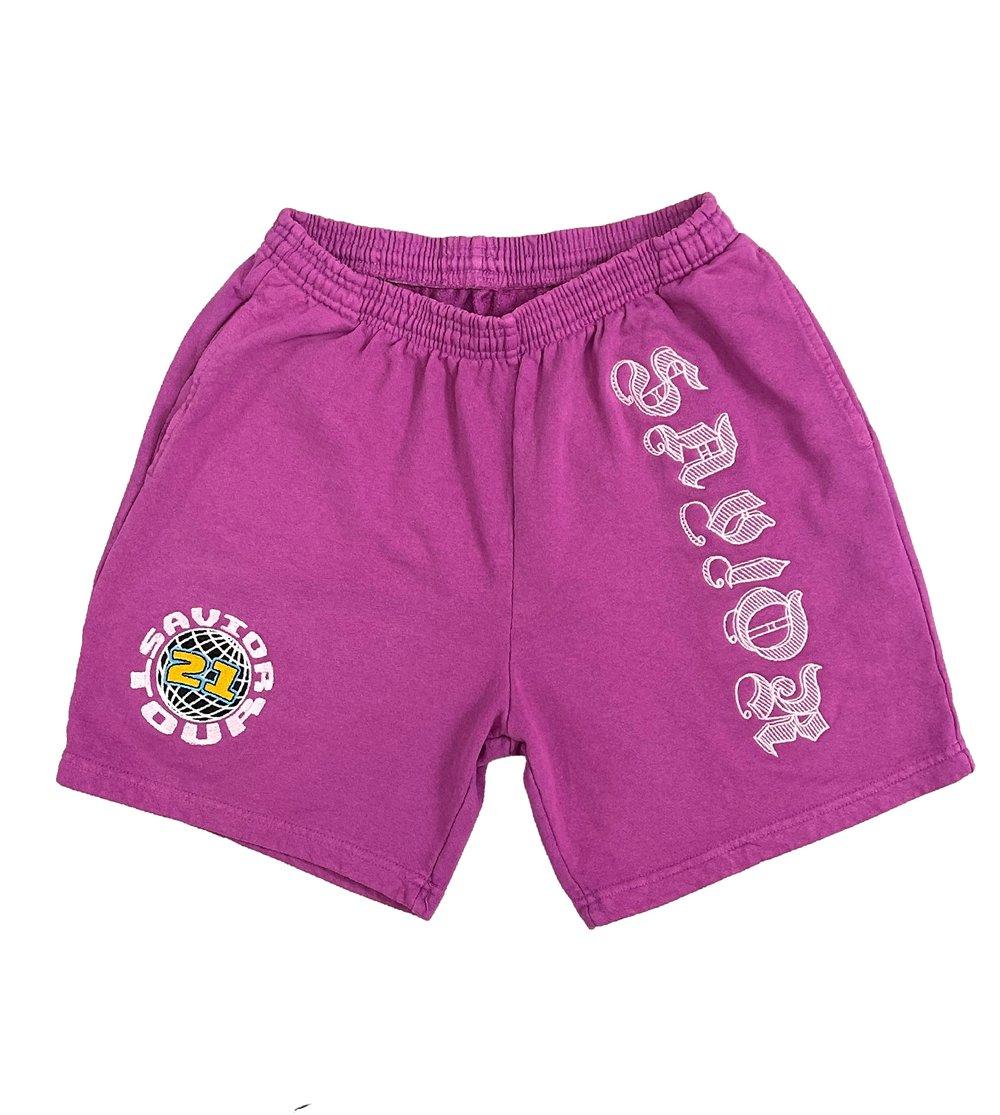 Image of Savior Sweat Shorts- Purple