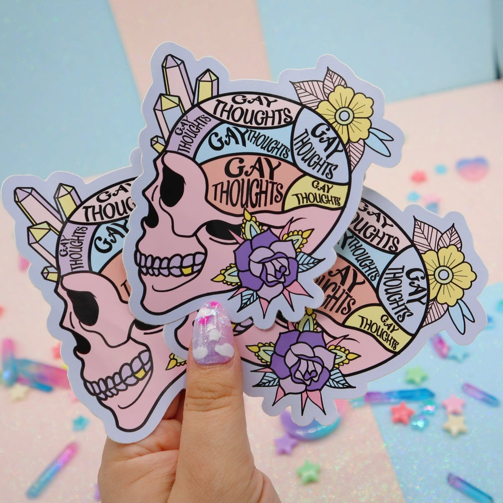 Image of Gay Thoughts Large Vinyl Sticker