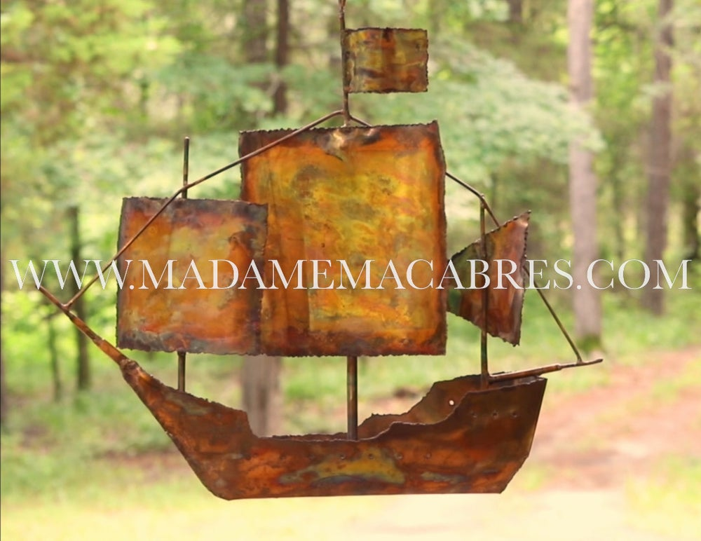 Image of Pirate Ship - Wind Spinner