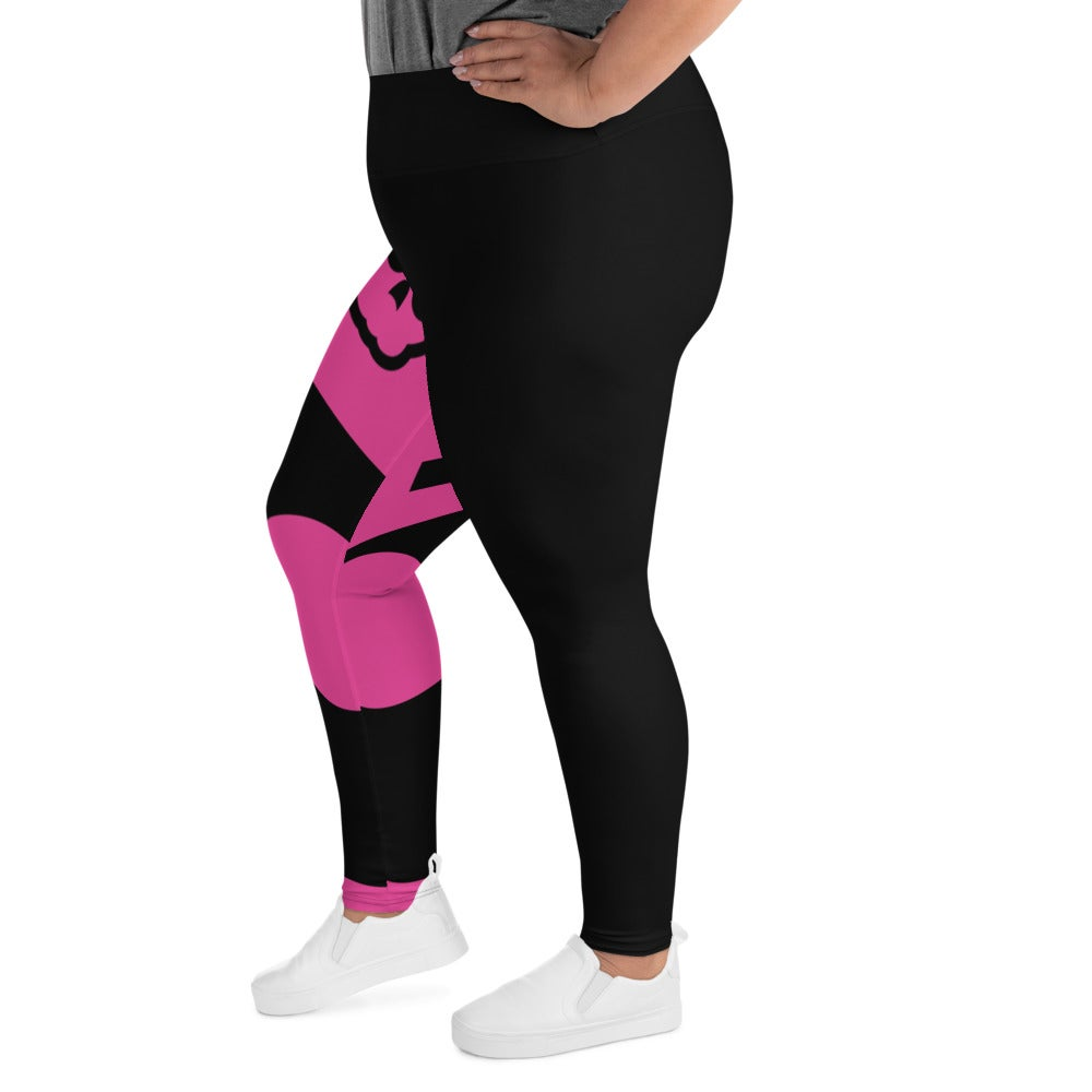 Image of Love To Love Pink Plus Size Leggings