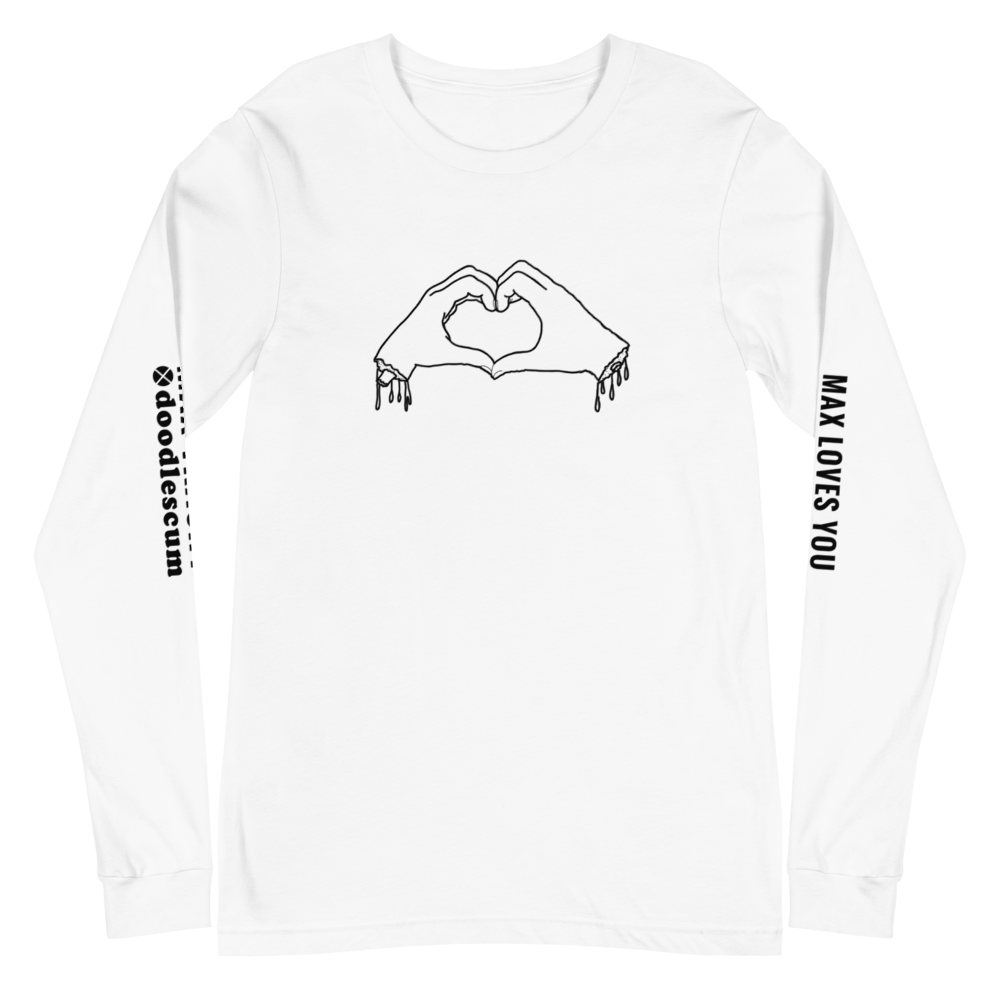 MAX LOVES YOU TO PIECES Unisex Long Sleeve Tee