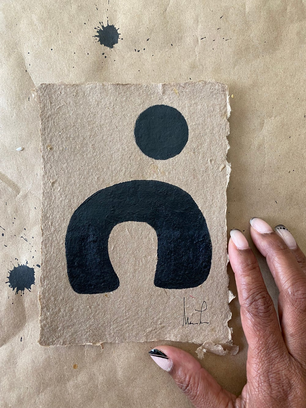 Image of ML• Brown Handmade Paper Collection (1)