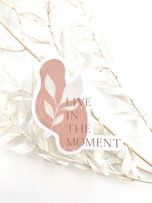 Image of Live In The Moment Transparent Vinyl Sticker
