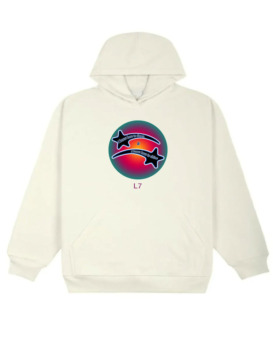 Image of KNOW HOW TO SHINE HOODIE (CREAM)