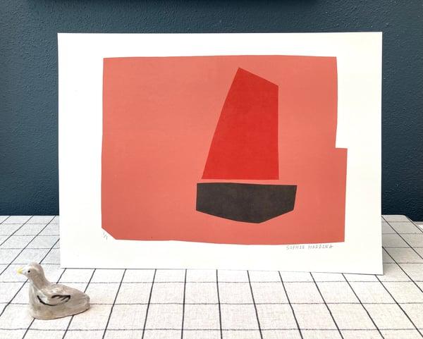 Image of Red Sail monoprint