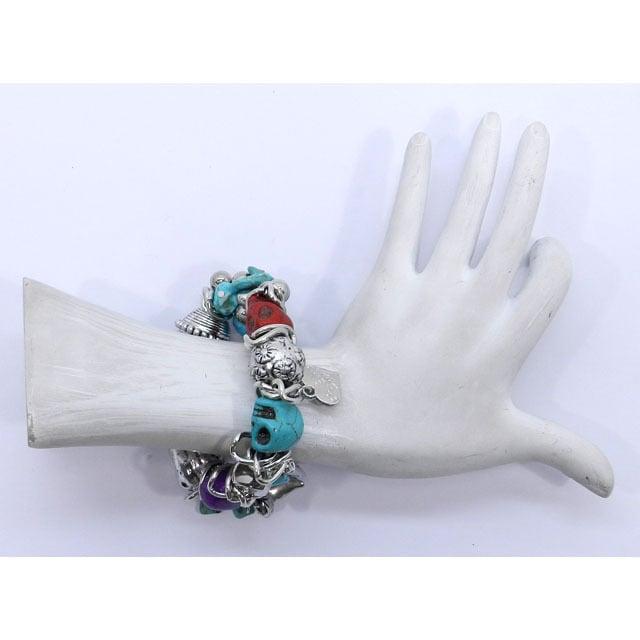 Image of Friend Skull Charm Bracelet