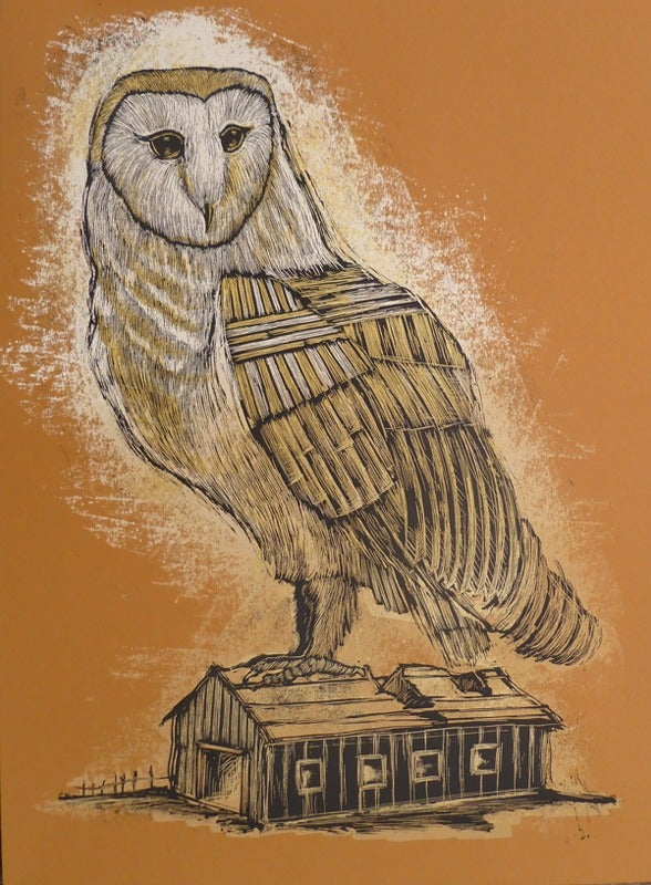 Image of Reconstructed Barn Owl Burnt Orange Colorway
