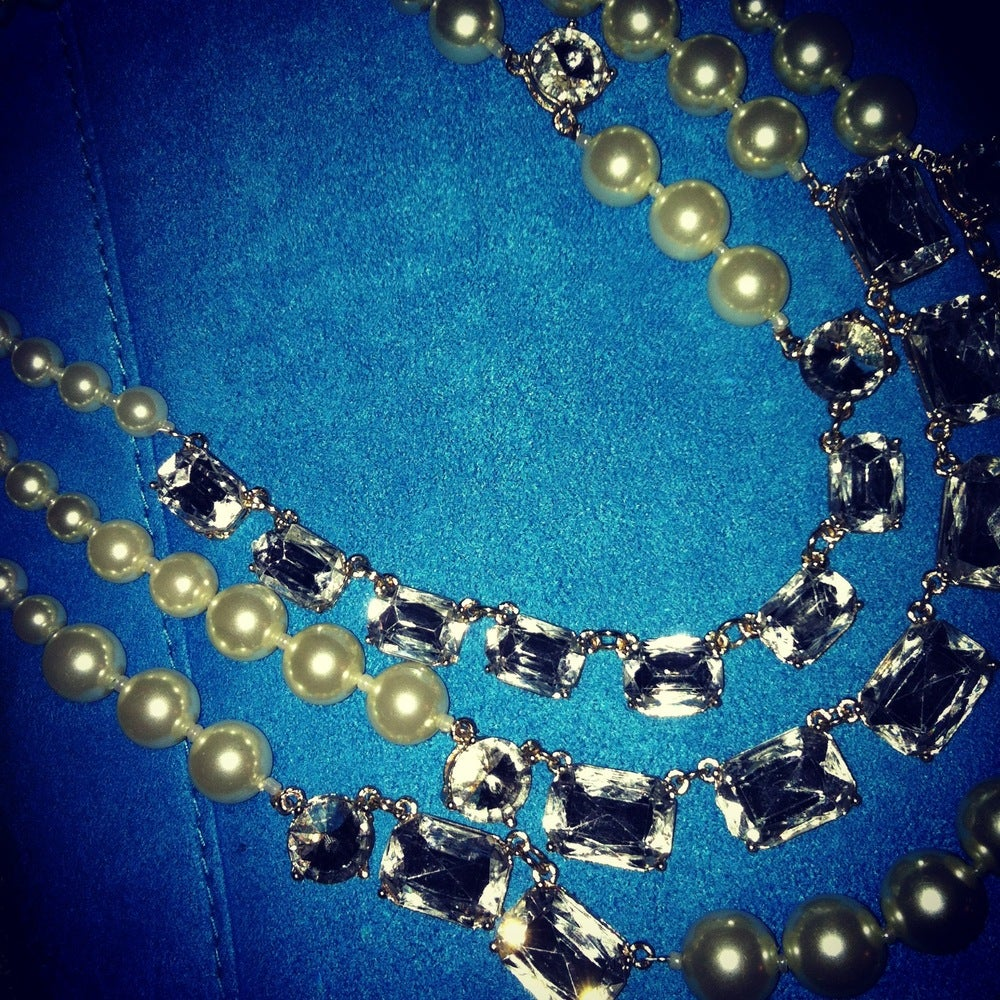 Image of Diamonds & Pearls Necklace
