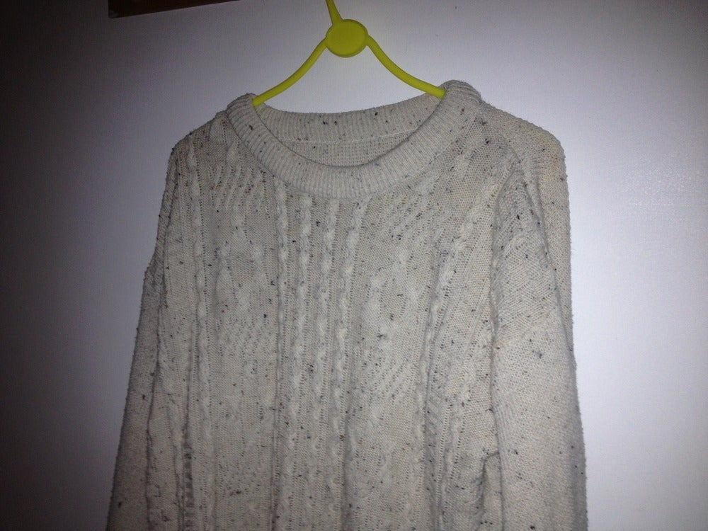 Image of Vintage Medium Knit Cream Flake Jumper