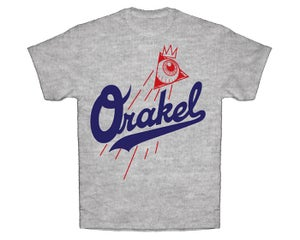 Image of ORAKEL MEN'S DODGER DOG TEE / HEATHER GREY