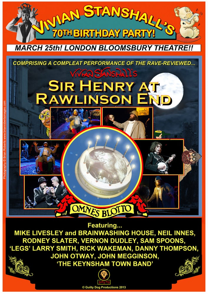 Image of Vivian Stanshall's 70th Birthday Party Poster
