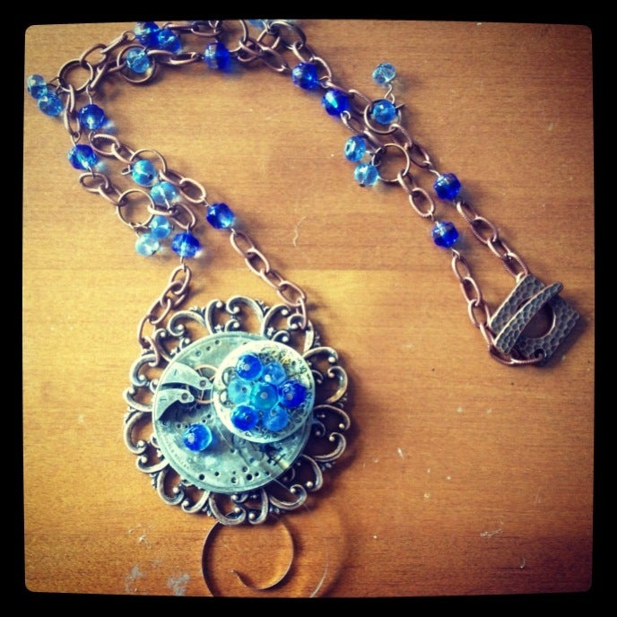 Image of Raindrop Steampunk Necklace