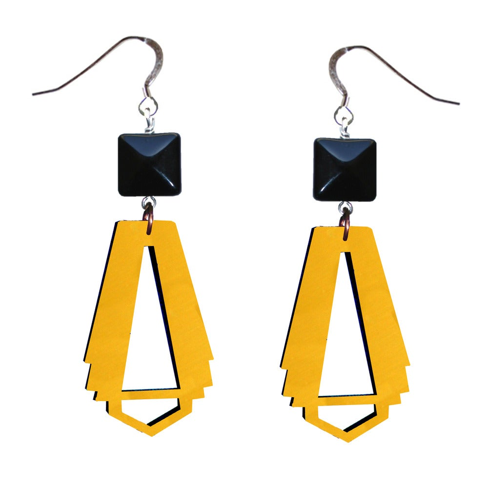 Image of Arc deco style drop earring ( various colours )