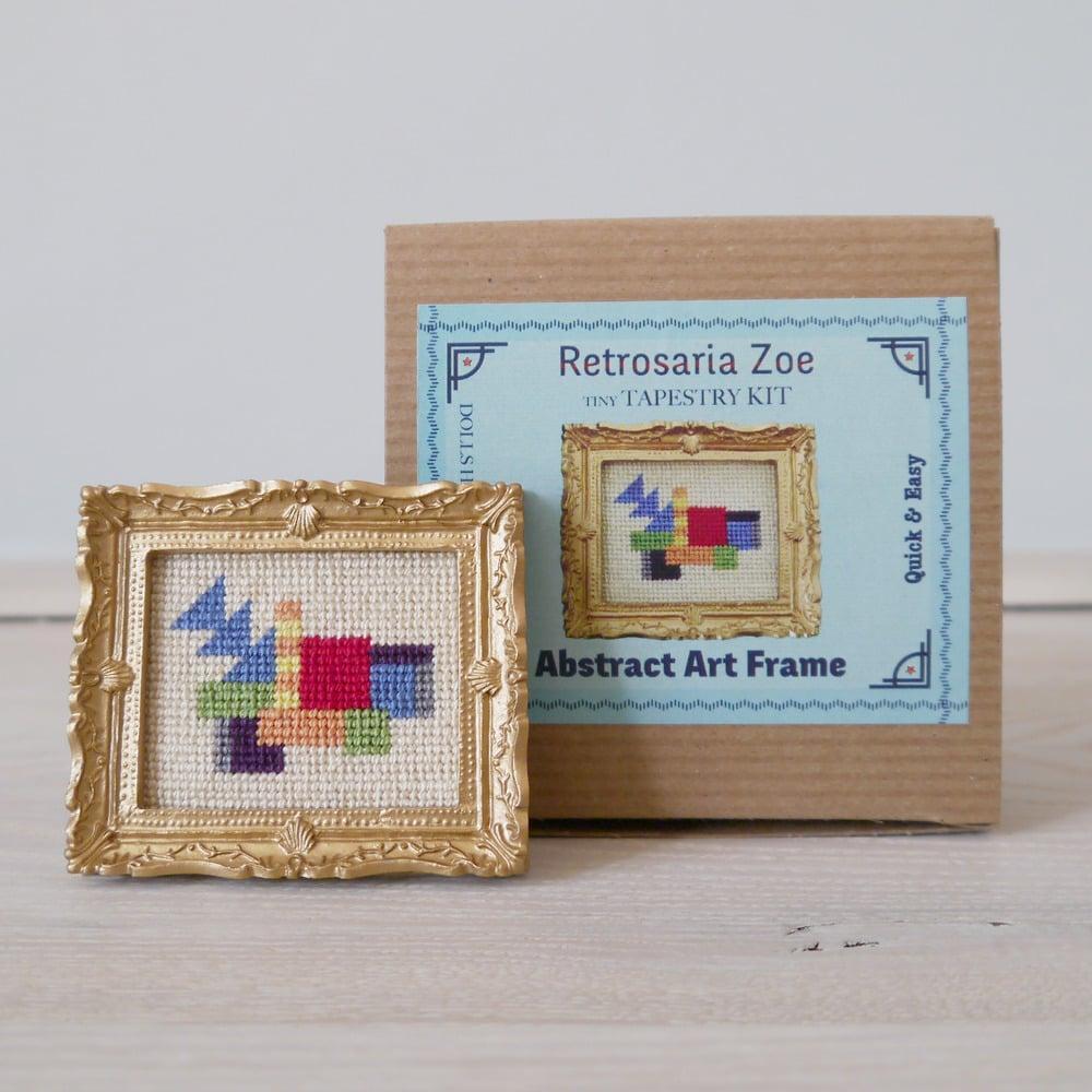 Abstract Art \'Tiny Tapestry\' Needlepoint Kit / Retrosariazoe