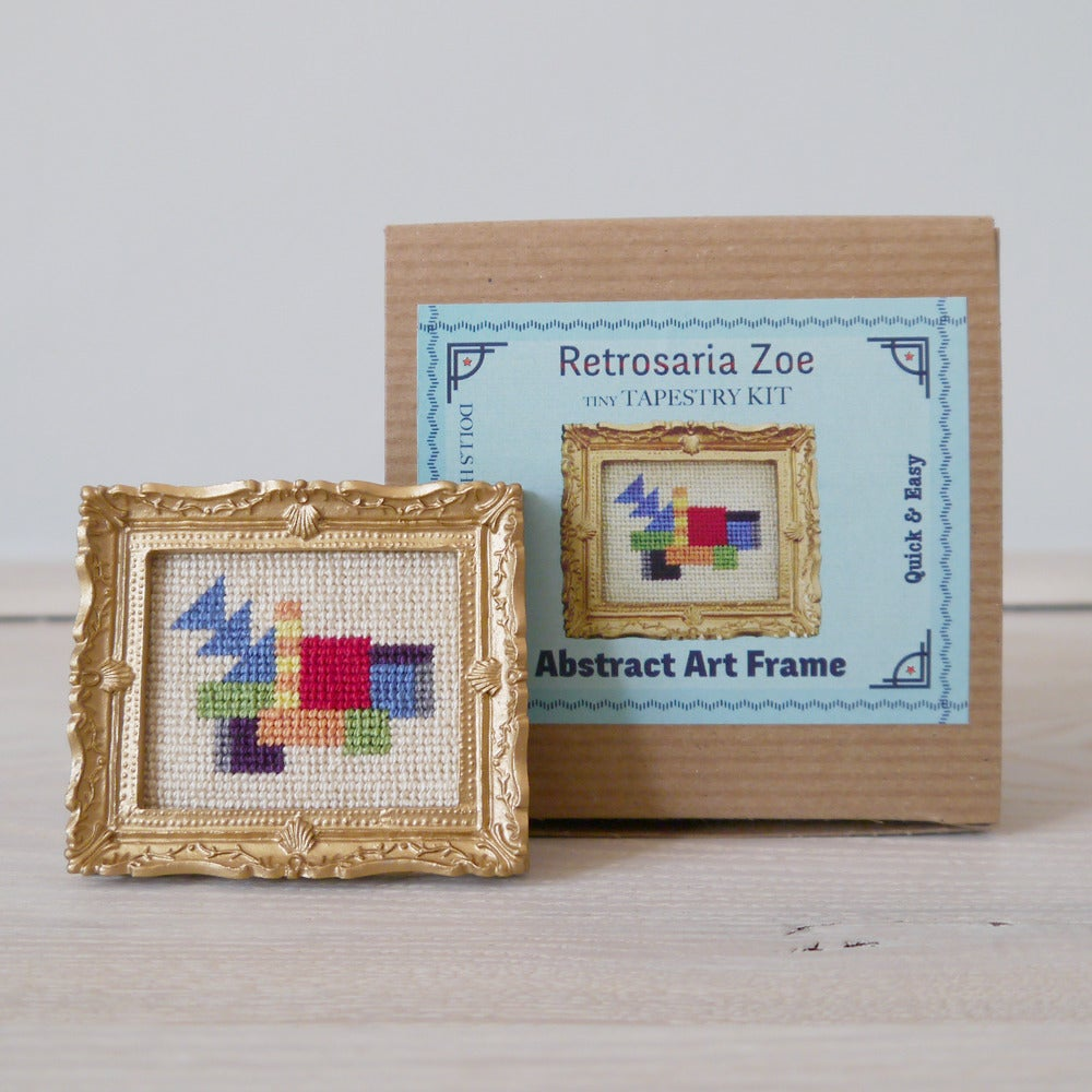Image of Abstract Art 'Tiny Tapestry' Needlepoint Kit
