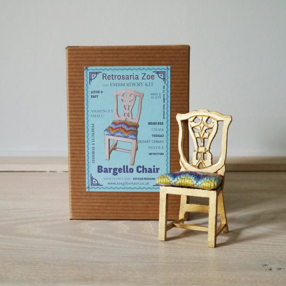 Image of Bargello Chair 'Tiny Tapestry' Needlepoint kit