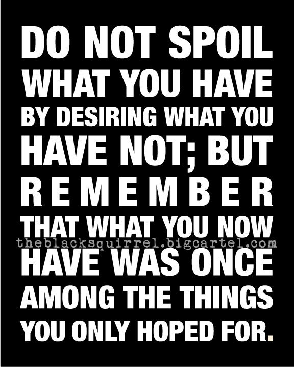 "Image of Do Not Spoil What You Have - Inspirational Quote - 8""x10"" size"