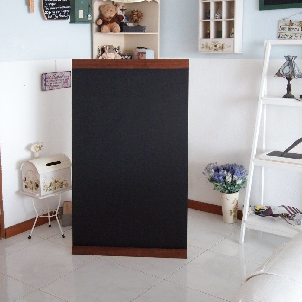 Image of Large Single Sided Standing Chalkboard with top and bottom border
