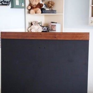 Large Single Sided Standing Chalkboard with top and bottom border