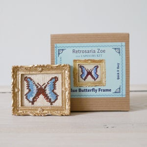 Image of Blue Butterfly 'Tiny Tapestry' Needlepoint Kit