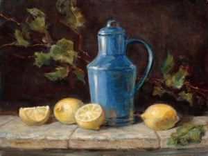 Image of Blue Jug and Lemons