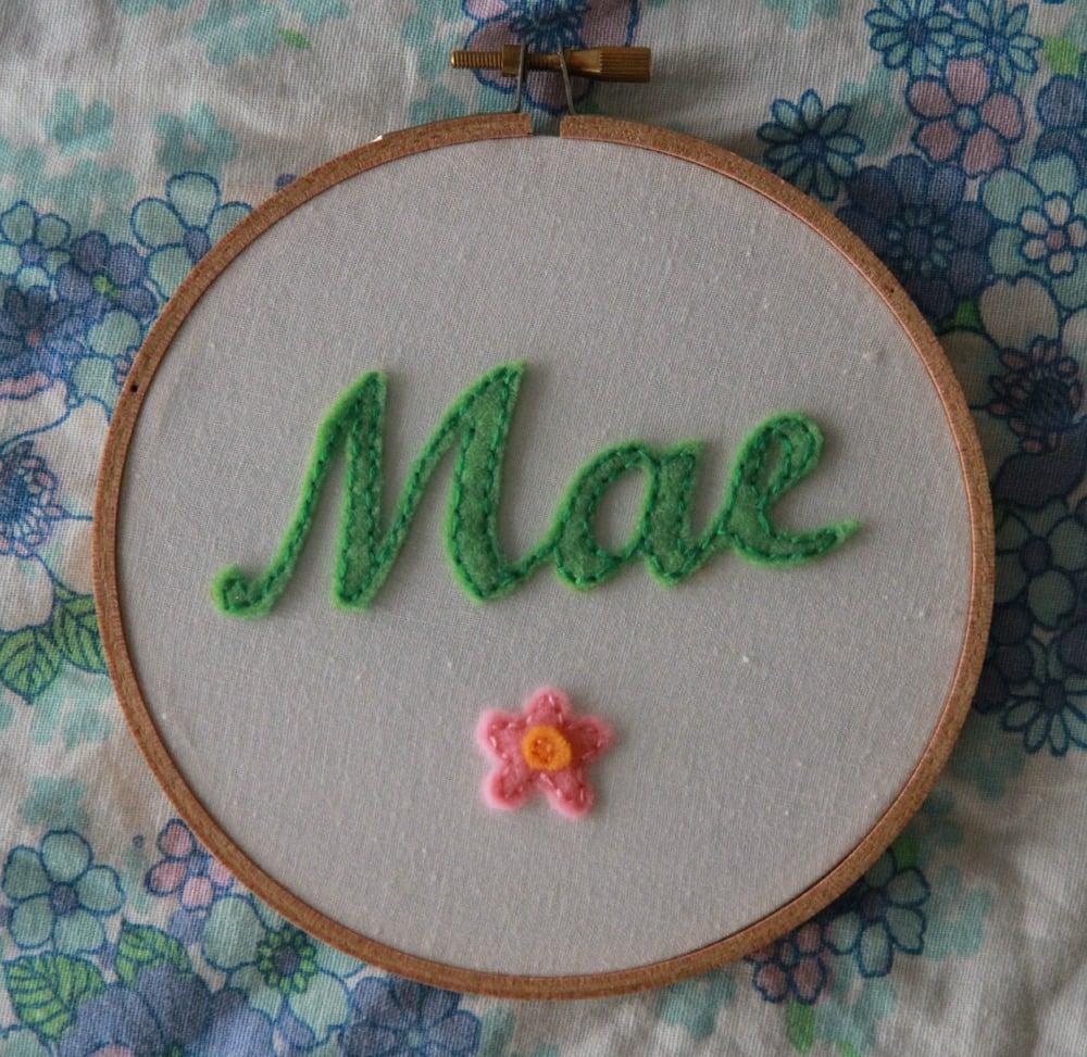 Image of Personalised Name Hoop - Green