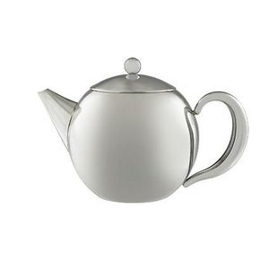 Image of Round Stainless Steel Tea Pot