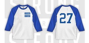 Image of Blue SAS Flagship ( Dodgers ) Baseball Tee