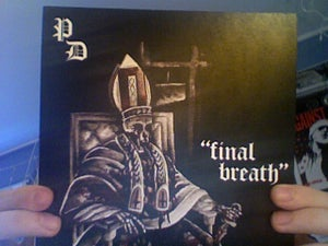 "Image of Final Breath 7"" with Record Release Cover"